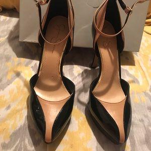 Black and Nude Jessica Simpson heel